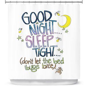 Premium Shower Curtains | Marley Ungaro - Sleep Tight | Text typography words