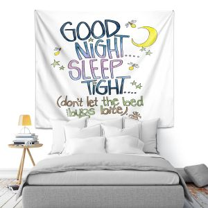 Artistic Wall Tapestry   Marley Ungaro - Sleep Tight   Text typography words