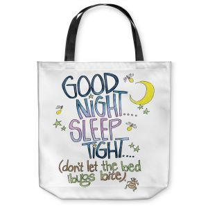 Unique Shoulder Bag Tote Bags | Marley Ungaro - Sleep Tight | Text typography words