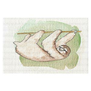 Decorative Floor Covering Mats | Marley Ungaro - Sloth White | animal creature nature collage