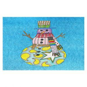 Decorative Floor Coverings   Marley Ungaro - Snowman Aqua   Snowman Winter Childlike Holidays