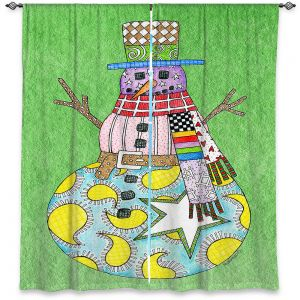 Decorative Window Treatments   Marley Ungaro - Snowman Green   Snowman Winter Childlike Holidays