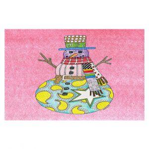 Decorative Floor Coverings | Marley Ungaro - Snowman Light Pink | Snowman Winter Childlike Holidays