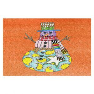 Decorative Floor Coverings | Marley Ungaro - Snowman Orange | Snowman Winter Childlike Holidays