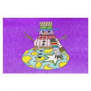 Decorative Floor Coverings   Marley Ungaro - Snowman Purple   Snowman Winter Childlike Holidays