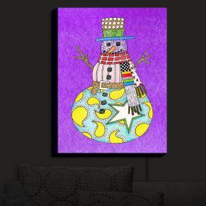 Nightlight Sconce Canvas Light | Marley Ungaro - Snowman Purple
