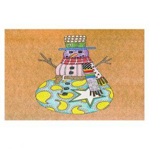 Decorative Floor Coverings   Marley Ungaro - Snowman Tan   Snowman Winter Childlike Holidays
