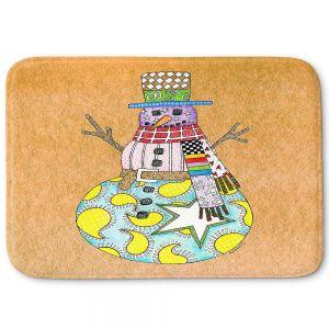 Decorative Bathroom Mats   Marley Ungaro - Snowman Tan   Snowman Winter Childlike Holidays