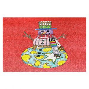Decorative Floor Coverings | Marley Ungaro - Snowman Watermelon | Snowman Winter Childlike Holidays