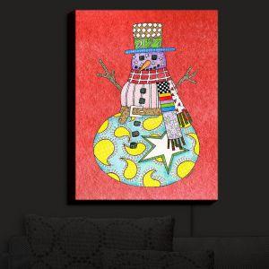 Nightlight Sconce Canvas Light | Marley Ungaro - Snowman Watermelon