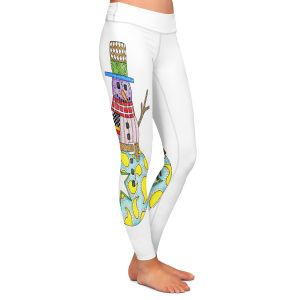 Casual Comfortable Leggings | Marley Ungaro - Snowman White | Snowman Winter Childlike Holidays
