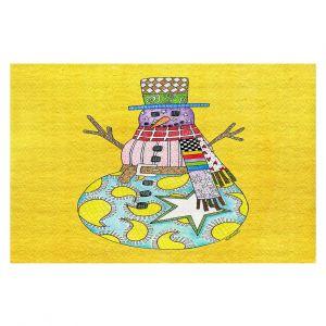 Decorative Floor Coverings | Marley Ungaro - Snowman Yellow | Snowman Winter Childlike Holidays