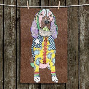 Unique Hanging Tea Towels | Marley Ungaro - Springer Spaniel Dog Light Brown | Dogs Animals Springer Spaniels
