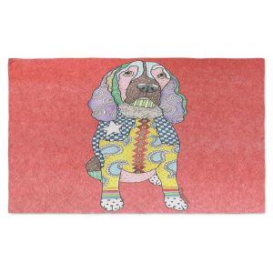 Artistic Pashmina Scarf | Marley Ungaro - Springer Spaniel Watermelon | dog collage pattern quilt