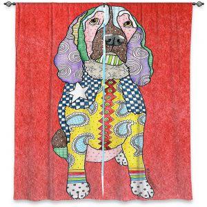 Decorative Window Treatments | Marley Ungaro - Springer Spaniel Watermelon | dog collage pattern quilt