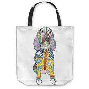 Unique Shoulder Bag Tote Bags | Marley Ungaro - Springer Spaniel White | dog collage pattern quilt