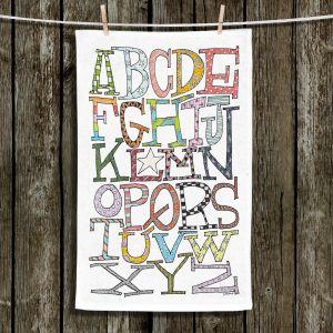 Unique Bathroom Towels   Marley Ungaro - Starbrite Alphabet   letter art typography