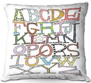 Throw Pillows Decorative Artistic   Marley Ungaro - Starbrite Alphabet   letter art typography