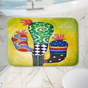 Decorative Bathroom Mats | Marley Ungaro - Starbrite Cactus | collage nature desert plant