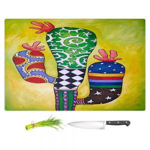 Artistic Kitchen Bar Cutting Boards   Marley Ungaro - Starbrite Cactus   collage nature desert plant
