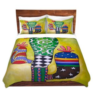 Artistic Duvet Covers and Shams Bedding | Marley Ungaro - Starbrite Cactus | collage nature desert plant