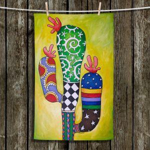Unique Hanging Tea Towels | Marley Ungaro - Starbrite Cactus | collage nature desert plant