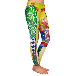 Casual Comfortable Leggings | Marley Ungaro - Starbrite Cactus | collage nature desert plant