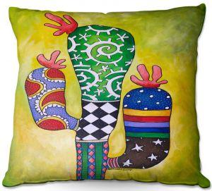 Throw Pillows Decorative Artistic | Marley Ungaro - Starbrite Cactus | collage nature desert plant