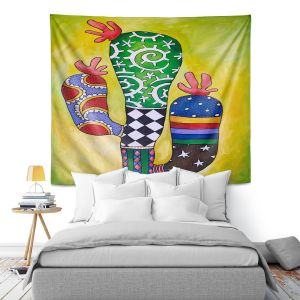 Artistic Wall Tapestry | Marley Ungaro - Starbrite Cactus | collage nature desert plant