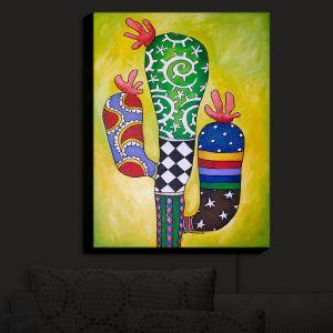 Nightlight Sconce Canvas Light | Marley Ungaro - Starbrite Cactus | collage nature desert plant