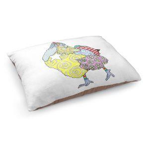 Decorative Dog Pet Beds | Marley Ungaro - Chicken White | animal creature nature collage
