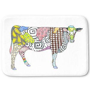 Decorative Bathroom Mats | Marley Ungaro - Cow White | animal creature nature collage