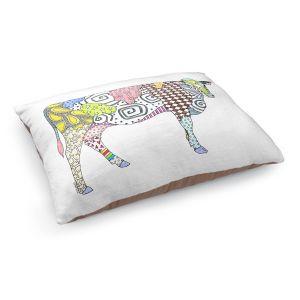 Decorative Dog Pet Beds | Marley Ungaro - Cow White | animal creature nature collage