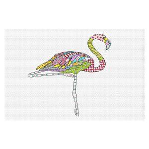 Decorative Floor Covering Mats | Marley Ungaro - Flamingo White | animal creature nature collage