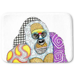 Decorative Bathroom Mats | Marley Ungaro - Gorilla White | animal creature nature collage