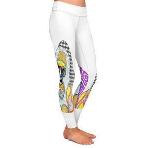 Casual Comfortable Leggings | Marley Ungaro - Gorilla White | animal creature nature collage