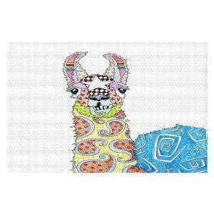 Decorative Floor Covering Mats | Marley Ungaro - Llama White | animal creature nature collage