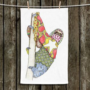 Unique Hanging Tea Towels | Marley Ungaro - Sloth | animal creature nature