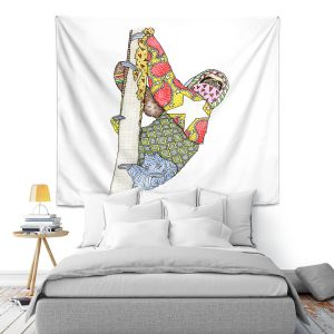 Artistic Wall Tapestry | Marley Ungaro - Sloth | animal creature nature
