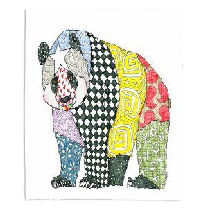Artistic Sherpa Pile Blankets | Marley Ungaro - Starbrite Panda | Wild Animals