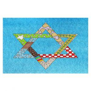Decorative Floor Coverings   Marley Ungaro - Star of David Aqua   Star of David Holidays Channuka