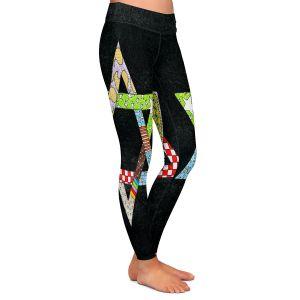 Casual Comfortable Leggings | Marley Ungaro - Star of David Black | Star of David Holidays Channuka