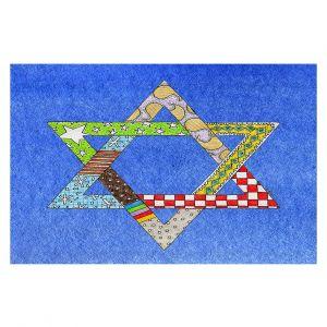 Decorative Floor Coverings | Marley Ungaro - Star of David Blue | Star of David Holidays Channuka