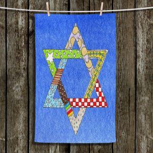 Unique Hanging Tea Towels | Marley Ungaro - Star of David Blue | Star of David Holidays Channuka