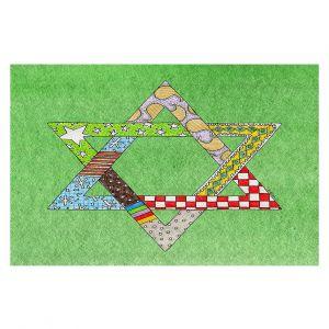 Decorative Floor Coverings | Marley Ungaro - Star of David Green | Star of David Holidays Channuka