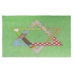 Artistic Pashmina Scarf | Marley Ungaro - Star of David Green | Star of David Holidays Channuka