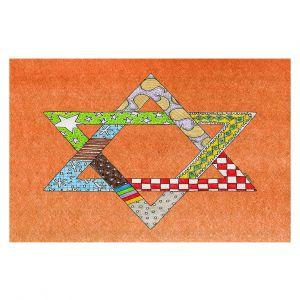 Decorative Floor Coverings   Marley Ungaro - Star of David Orange   Star of David Holidays Channuka