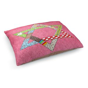 Decorative Dog Pet Beds | Marley Ungaro - Star of David Pink | Star of David Holidays Channuka