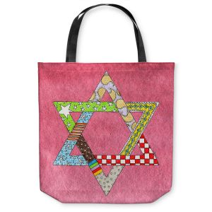 Unique Shoulder Bag Tote Bags | Marley Ungaro - Star of David Pink | Star of David Holidays Channuka