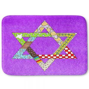 Decorative Bathroom Mats   Marley Ungaro - Star of David Purple   Star of David Holidays Channuka